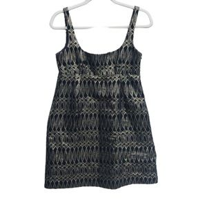 Milly of New York Metallic Empire Waist Mini Dress